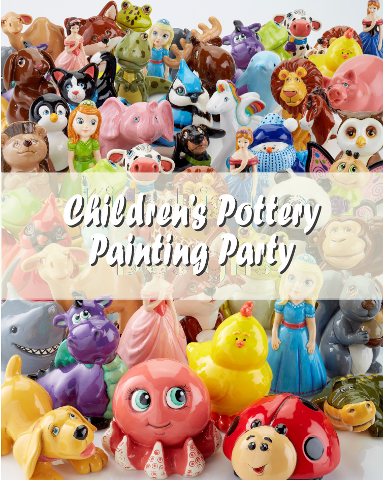 Childrens Pottery Painting Party