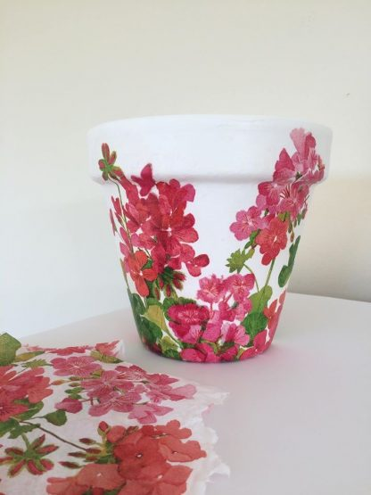 decoupage at iris and dora guerney arts and craft workshop
